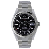 Rolex Sky-Dweller 42mm Stainless Steel Black Dial Watch 326934