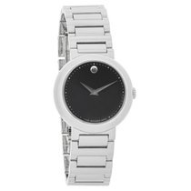 Movado Concerto Series Ladies Black Dial Swiss Quartz Watch...