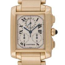 Cartier : Tank Francaise Chronograph :  W50005R2 :  18k Yellow...