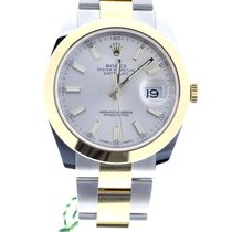 Rolex Datejust 41 Silver dial Rolesor Bicolor Oyster