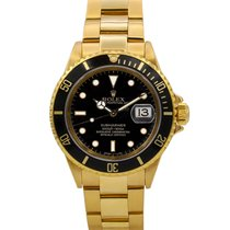 Rolex Submariner 40mm Yellow Gold Black Dial Ref#16618 w/...