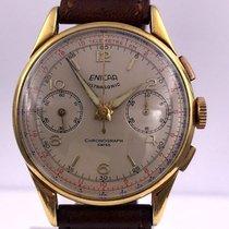 Enicar vintage ULTRASONIC chronographe gold plated VALJOUX 90