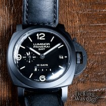 Panerai Luminor 1950 10 Days GMT pre-owned 44mm Black Date GMT Calf skin