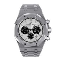 Audemars Piguet Steel Automatic Silver No numerals 41mm new Royal Oak Chronograph