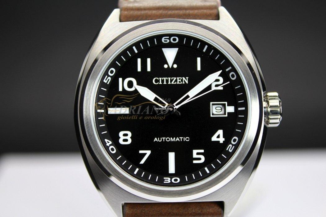 Citizen NJ0100-11E Urban Automatico Uomo Acciaio Pelle Data for  171 for  sale from a Seller on Chrono24 c5de0c6869