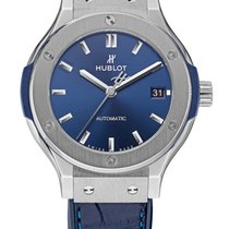 Hublot Steel 38mm Automatic Hublot Classic Fusion Blue pre-owned