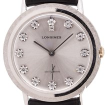 Longines White gold Manual winding 34mm pre-owned