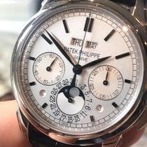 Patek Philippe Perpetual Calendar Chronograph Złoto białe 41mm Srebrny Bez cyfr
