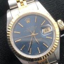 Rolex Lady-Datejust Or/Acier 26mm Bleu Sans chiffres France, Paris