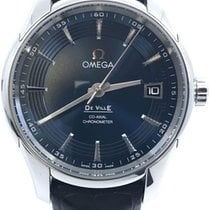 Omega Steel Automatic Blue No numerals 41mm pre-owned De Ville Hour Vision