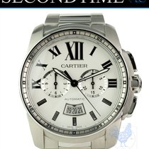 Cartier Calibre de Cartier Chronograph Steel 42mm White United States of America, Florida, Hollywood
