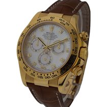 Rolex Used 116518_used_Wht_MOP_DD Yellow Gold Daytona on Strap...