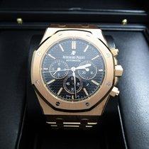 Audemars Piguet Rose Gold Chronograph W Black Dial 26320or Oo