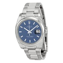 Rolex Date 34mm Blu Index - 115200