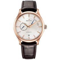 Zenith Elite Power Reserve Rose gold 40mm Silver Roman numerals United States of America, Pennsylvania, Holland