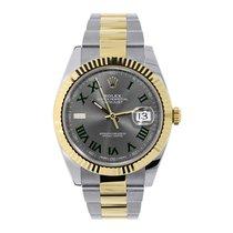 Rolex Datejust Acero y oro 41mm Gris Romanos