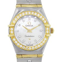 Omega Constellation Ladies Yellow gold 22mm Mother of pearl