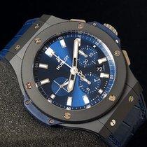 Hublot Big Bang 44 mm Ceramic Blue Dial Auto Chrono 301.CI.717...