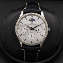 Jaeger-LeCoultre White gold Silver 39mm pre-owned Master Ultra Thin Perpetual