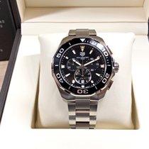 TAG Heuer Chronograf 43mm Quartz 2018 použité Aquaracer 300M Černá