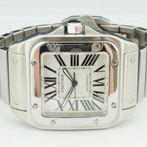 Cartier 38mm Automatisch 2008 tweedehands Santos 100 Wit