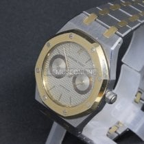 Audemars Piguet Royal Oak Day-Date Gold/Steel 36mm Grey No numerals