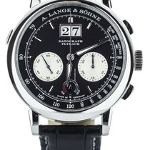 A. Lange & Söhne Platinum Manual winding Black No numerals 41mm new Datograph