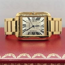Cartier Tank Anglaise pre-owned 39.2mm Silver Yellow gold