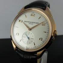 Baume & Mercier Rose gold Manual winding Silver Arabic numerals 42mm new Clifton