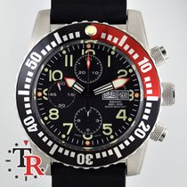 Zeno-Watch Basel Airplane Diver Chronograph Numbers, box+papers