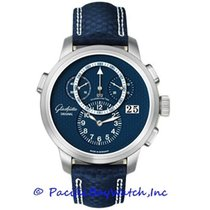 Glashütte Original PanoMaticChrono XL Platinum 44mm Blue Arabic numerals United States of America, California, Newport Beach