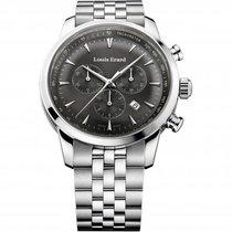 Louis Erard Chronograph 42mm Quartz new Héritage Grey