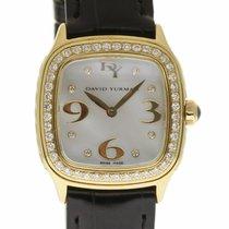 David Yurman T304-X588 Thoroughbred Gold MOP Diamond Leather...