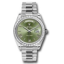 Rolex Platino Automático Verde Romanos 40mm nuevo Day-Date 40