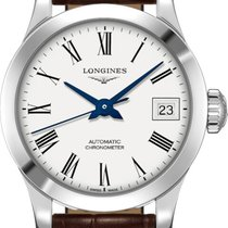Longines Steel Automatic White 26mm new Record