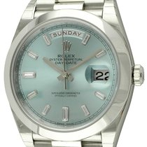 Rolex : Day-Date 40 President :  228206 :  Platinum : ice blue...
