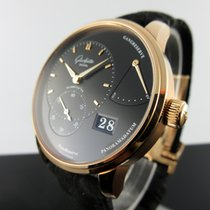 Glashütte Original Red gold Manual winding Black No numerals 40mm new PanoReserve