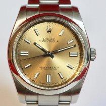 Rolex Oyster Perpetual 36 Сталь 36mm Цвета шампань Aрабские