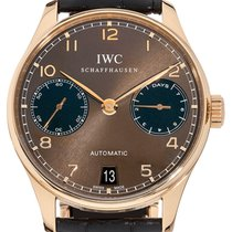 IWC Portuguese Automatic Rose gold 42mm Brown
