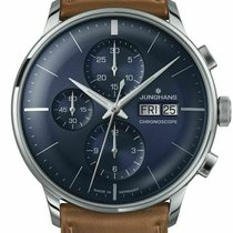 Junghans Meister Chronoscope Steel 40mm Blue United States of America, New Jersey, Cherry Hill
