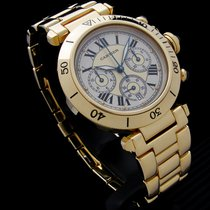 Cartier Pasha Yellow gold 38mm Silver Roman numerals