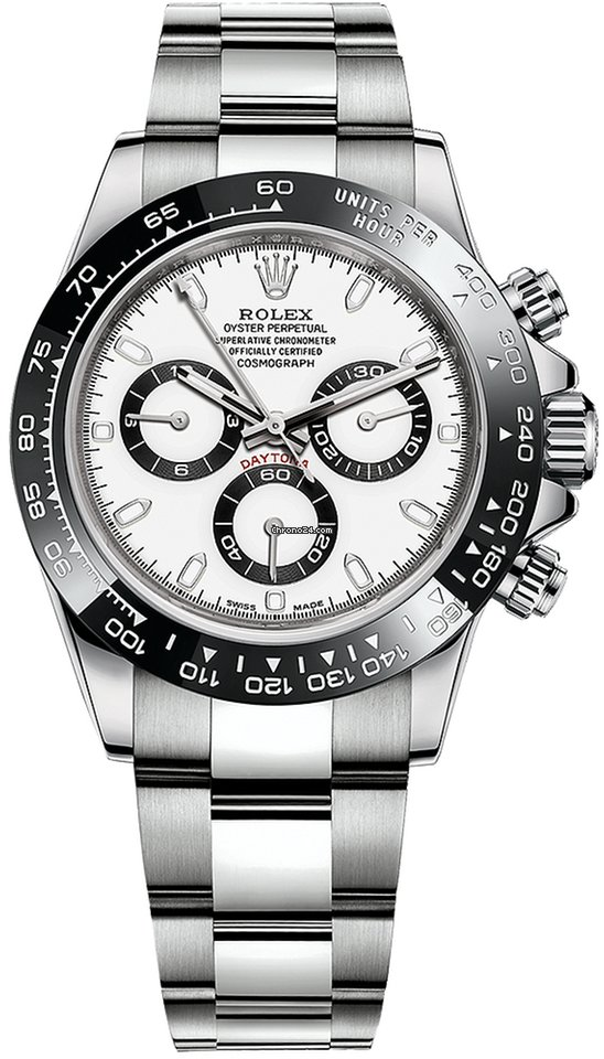 Rolex Daytona 40mm Panda White Index Dial Ceramic Bezel NEW for ...