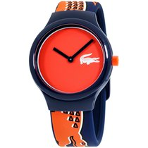Lacoste Plastic Quartz Red 40mm new