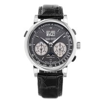 A. Lange & Söhne White gold Manual winding Black 41mm new Datograph