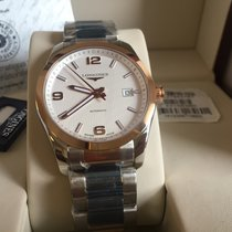 Longines Conquest Classic  Steel  and 18k Rose Gold Men Watch