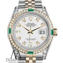 Rolex Lady-Datejust Acero y oro 26mm Blanco