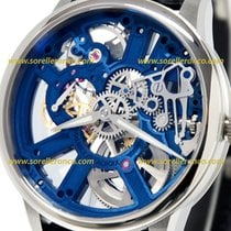 Maurice Lacroix Masterpiece Squelette new 2020 Manual winding Watch with original box and original papers MP7228-SS001-004-1 MASTERPIECE SQUALETTE SKELETON BLUE