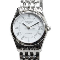 Longines Elegant Series Stainless Steel White Automatic...