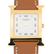 Hermès Pvd Gold White Quartz HH1.501.131/VBA