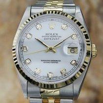 Rolex Datejust und silbernen Zifferblatt mit 10 Diamanten...